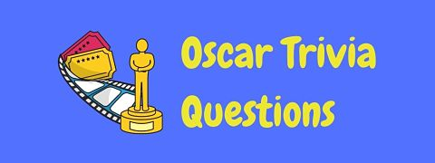 Header image for a page of Oscar trivia questions and answers.