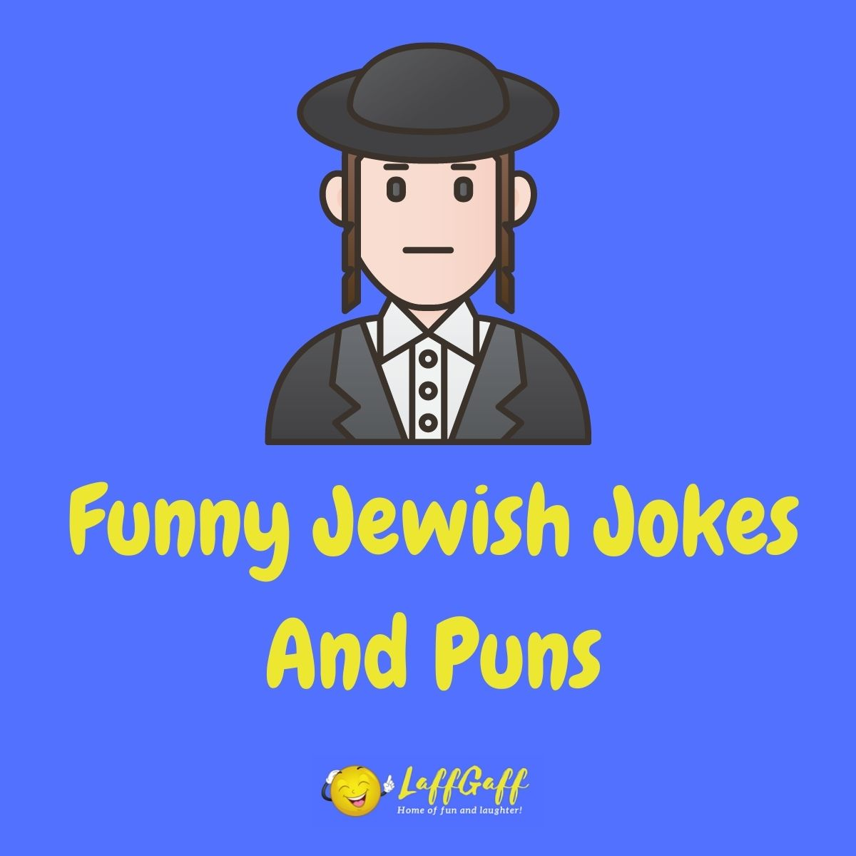 Featured image for a page of funny Jewish jokes and puns.