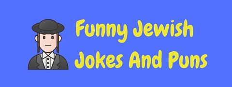 Header image for a page of funny Jewish jokes and puns.