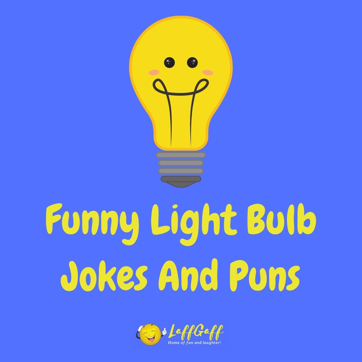 Featured image for a page of funny light bulb jokes and puns.