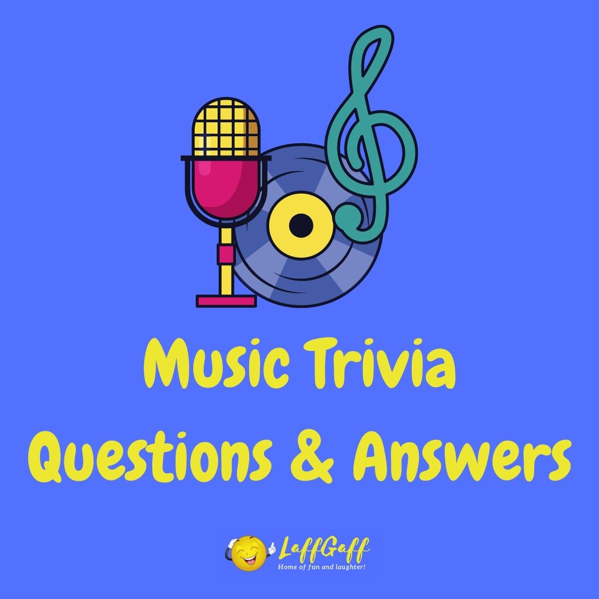 Featured image for a page of music trivia questions and answers.