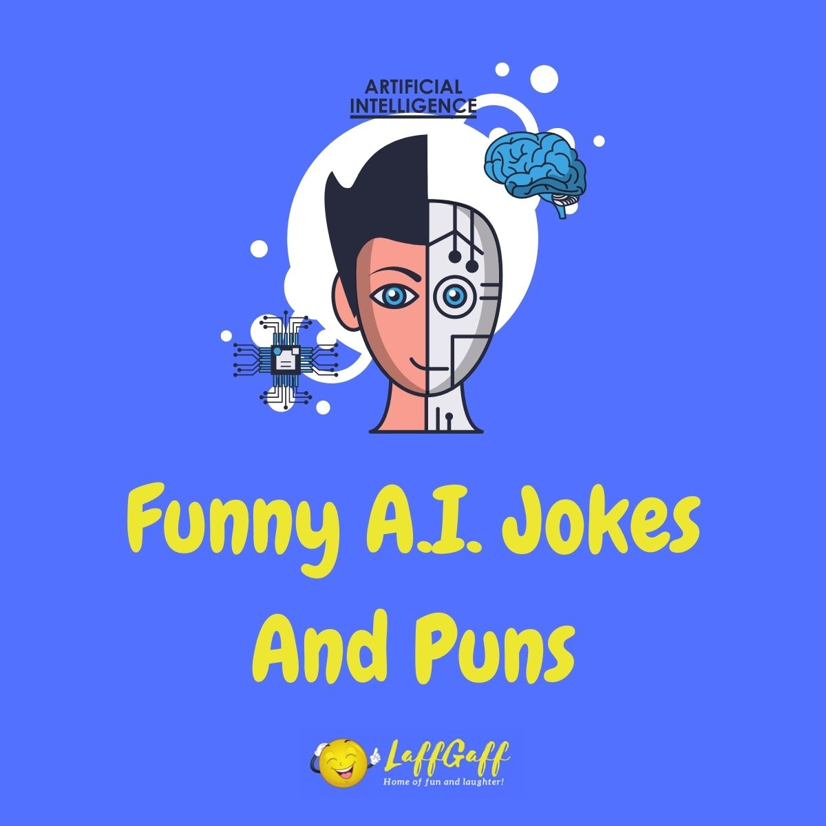 Featured image for a page of funny AI jokes and puns.