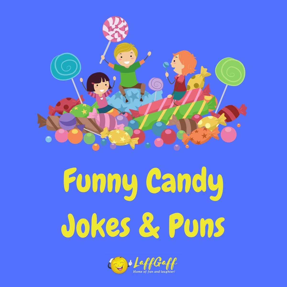 Featured image for a page of funny candy jokes and puns.