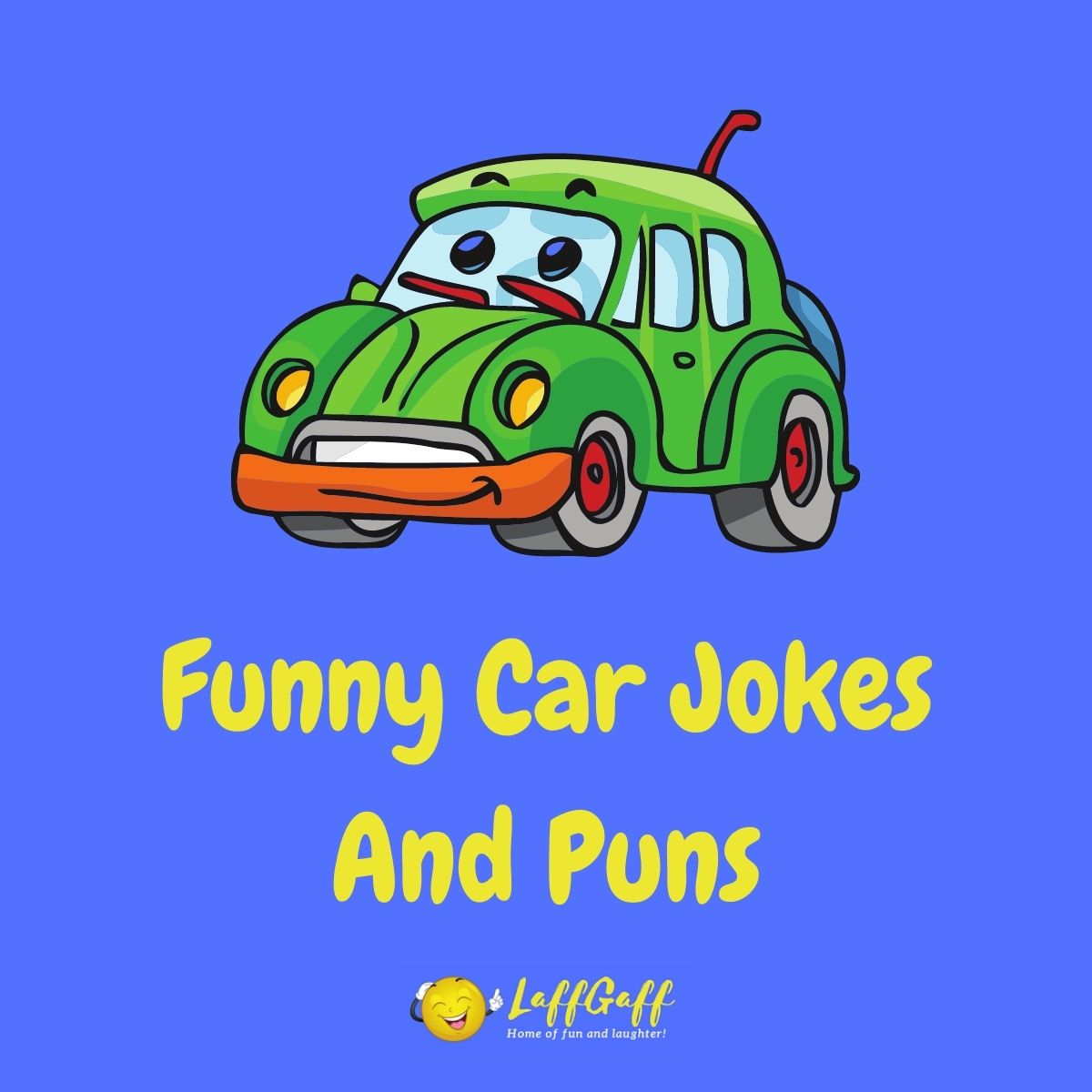 Featured image for a page of funny car jokes and puns.