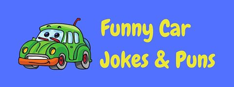 Header image for a page of funny car jokes and puns.
