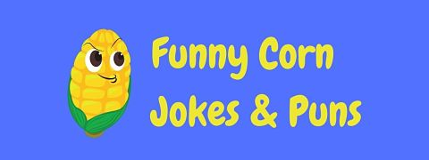 Header image for a page of funny corn jokes and puns.