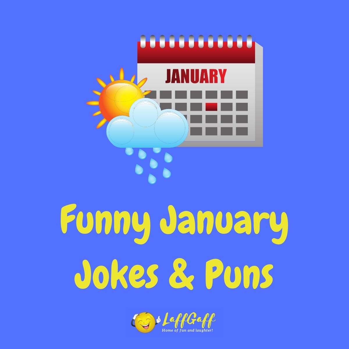 Featured image for a page of funny January jokes and puns.