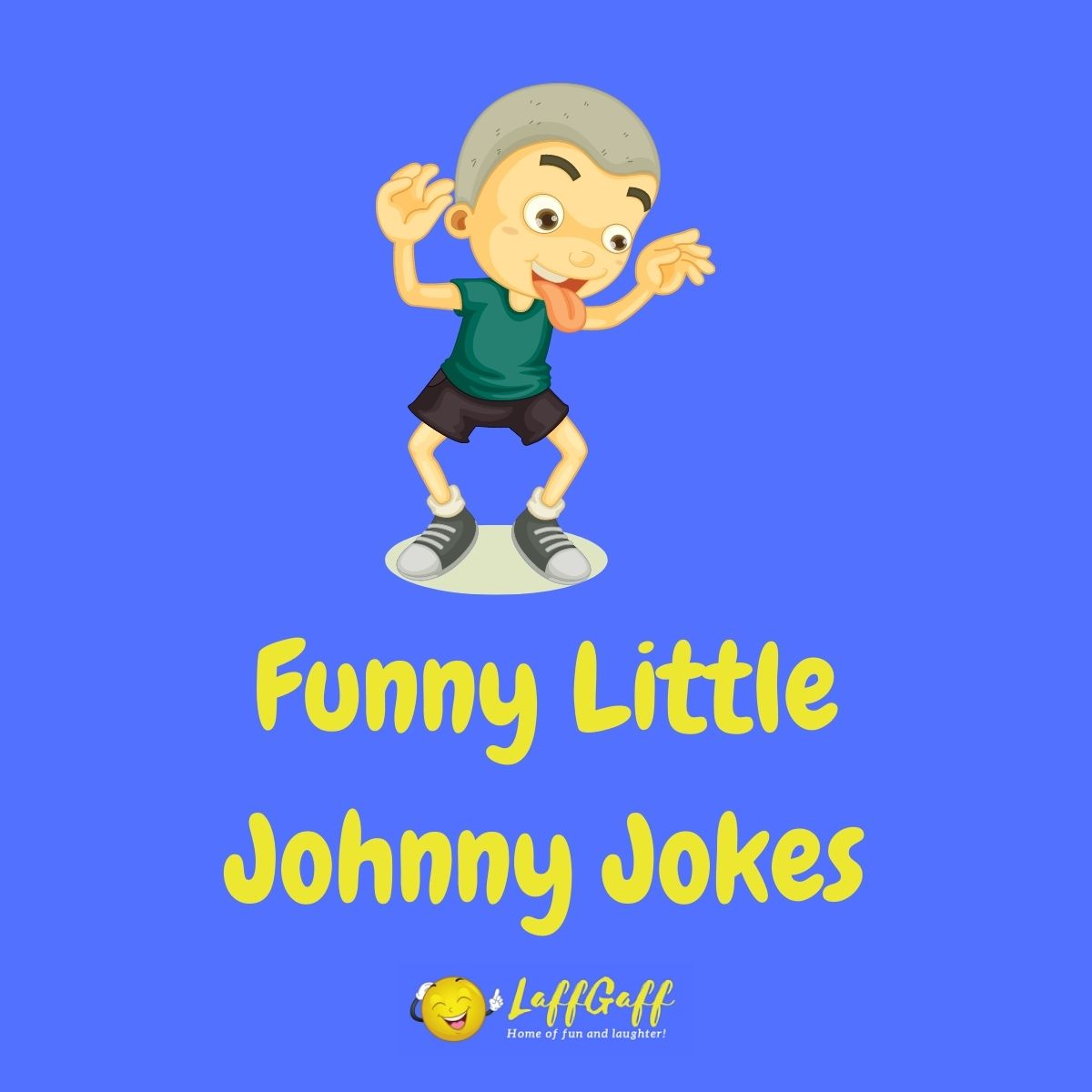 Featured image for a page of funny Little Johnny jokes.