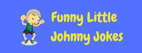 Header image for a page of funny Little Johnny jokes.