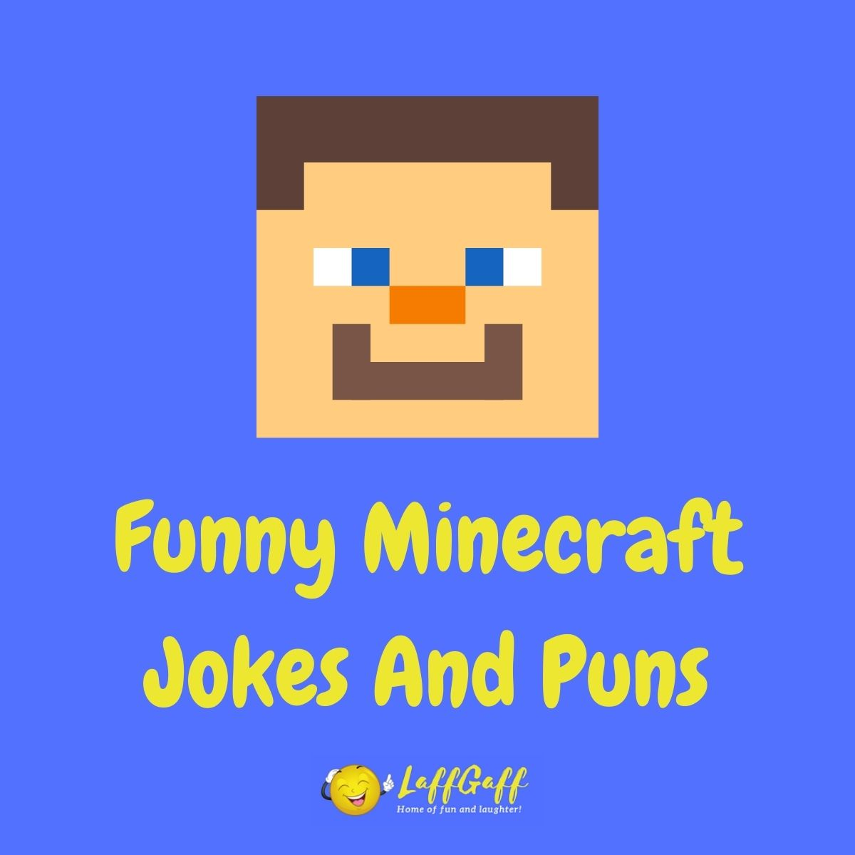 Featured image for a page of funny Minecraft jokes and puns.