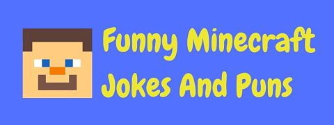 Header image for a page of funny Minecraft jokes and puns.