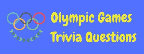 Header image for a page of Olympic Games trivia questions.