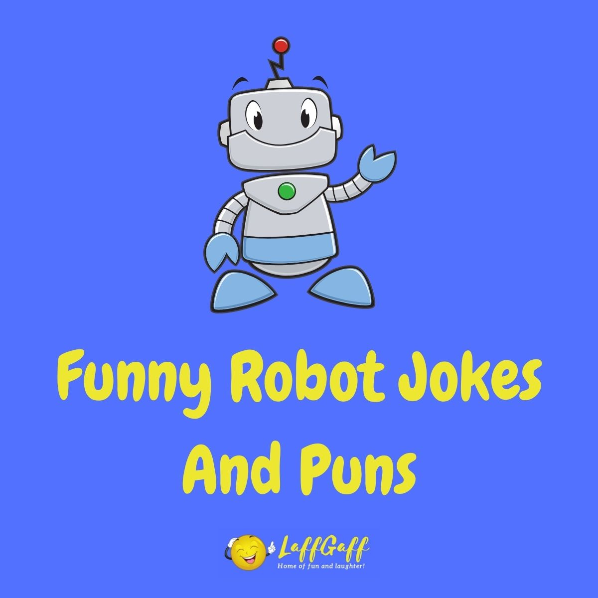 Featured image for a page of funny robot jokes and puns.