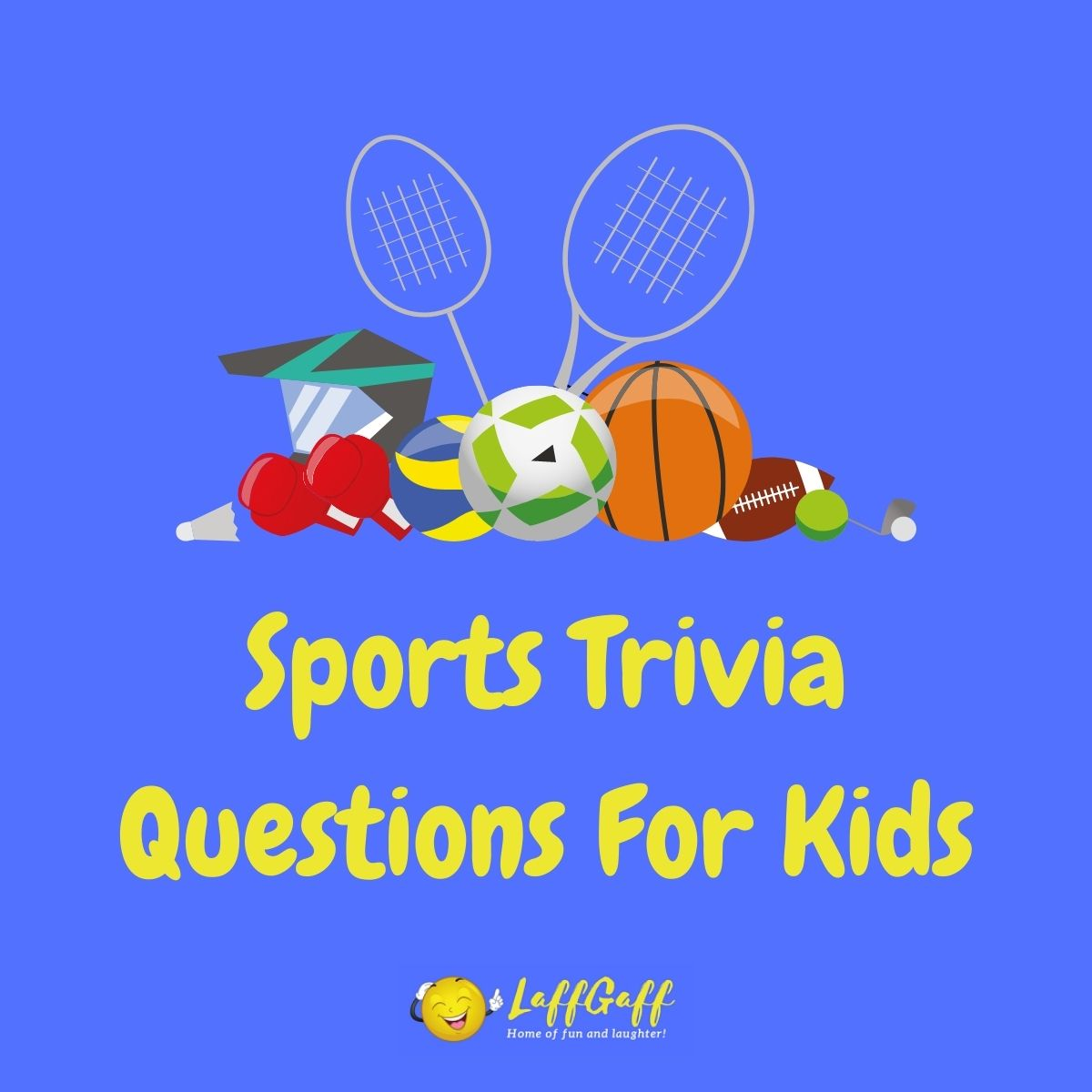 Featured image for a page of sports trivia for kids.