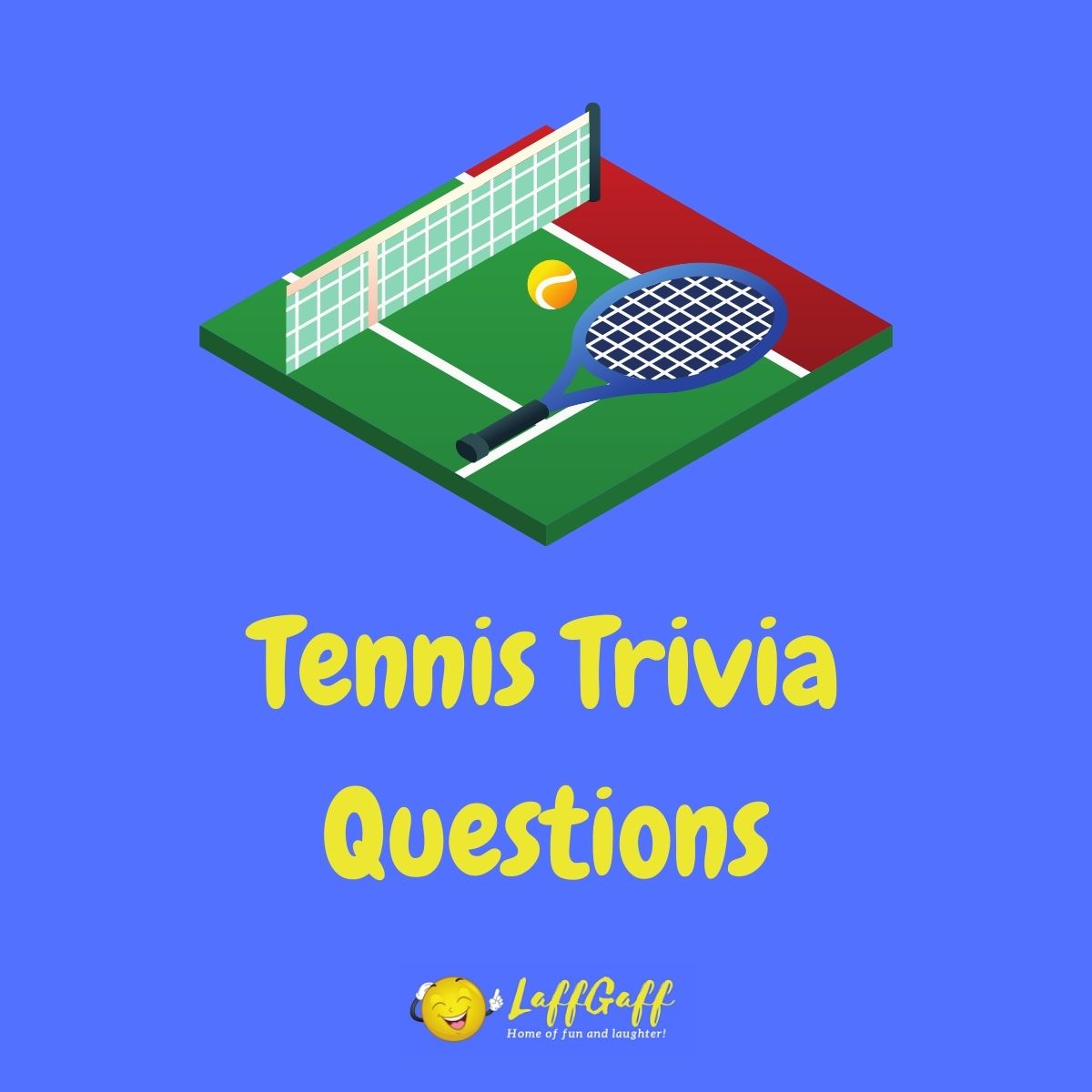 Featured image for a page of tennis trivia questions and answers.