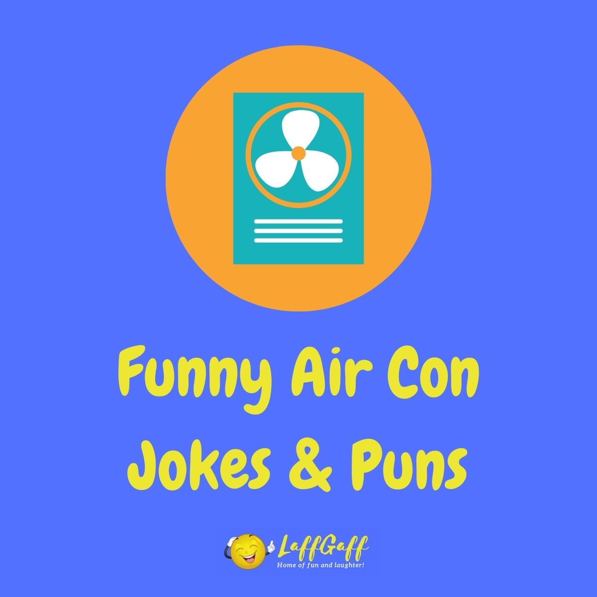 Featured image for a page of funny air conditioning jokes and puns.