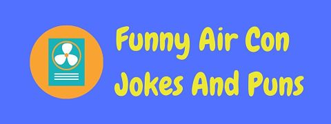Header image for a page of funny air conditioning jokes and puns.