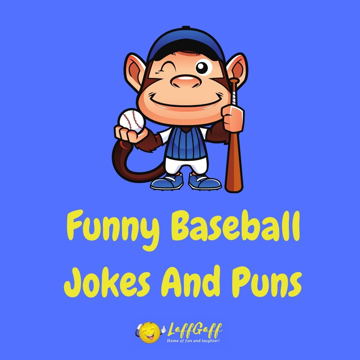 Featured image for a page of funny baseball jokes and puns.