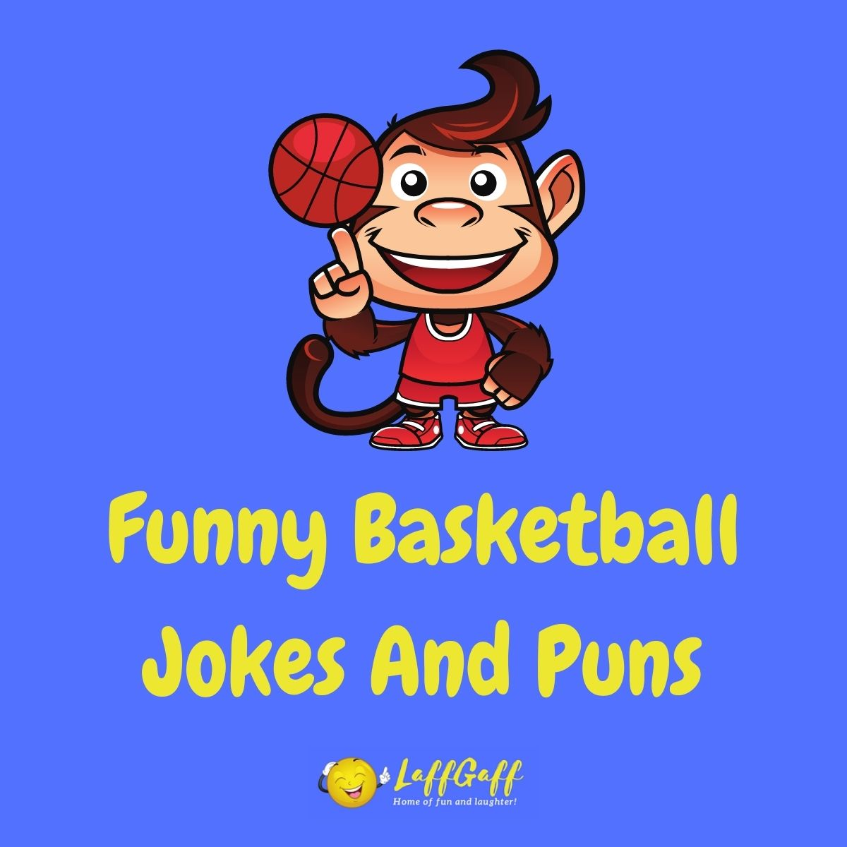 Featured image for a page of funny basketball jokes and puns.