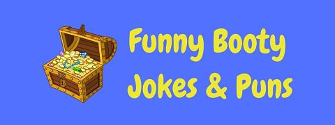 Header image for a page of funny booty jokes and puns.