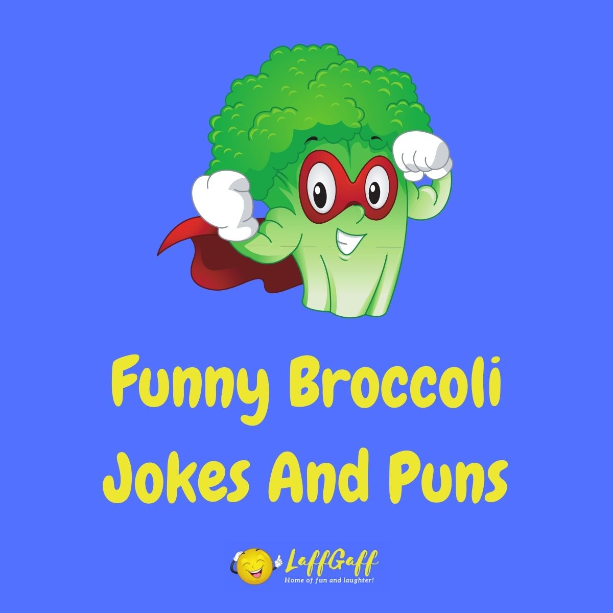 Featured image for a page of funny broccoli jokes and puns.