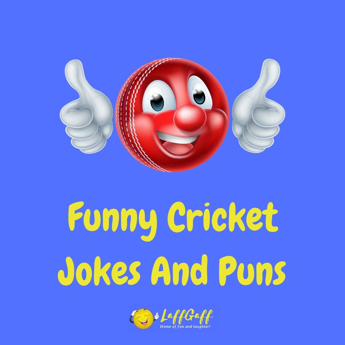 Featured image for a page of funny cricket jokes and puns.