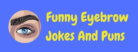 Header image for a page of funny eyebrow jokes and puns.