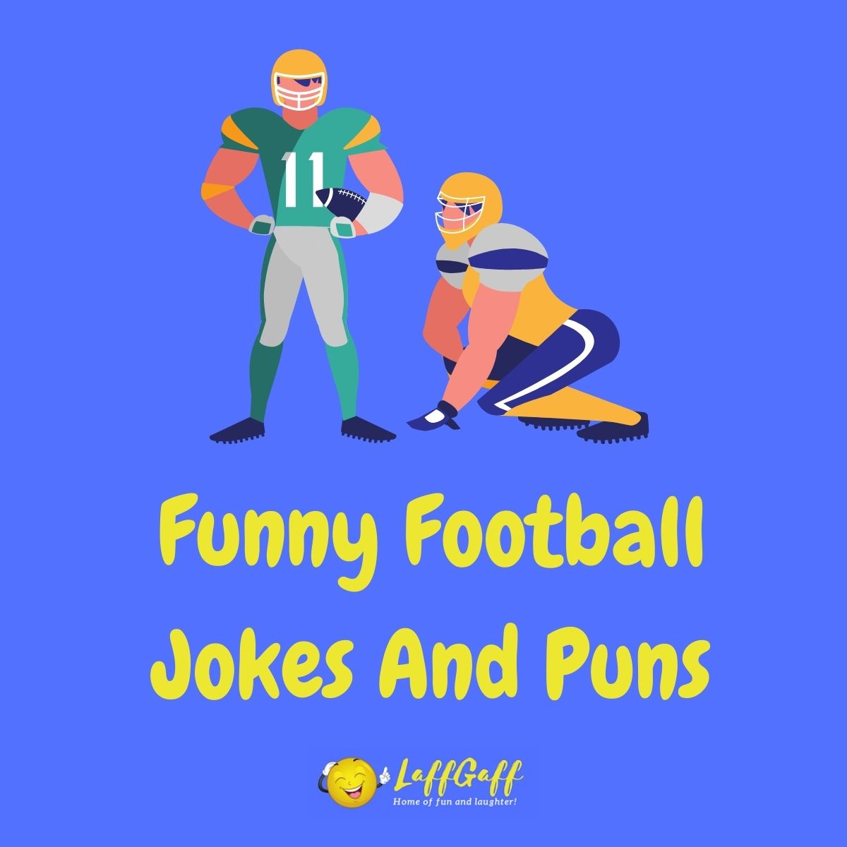Featured image for a page of funny football jokes and puns.