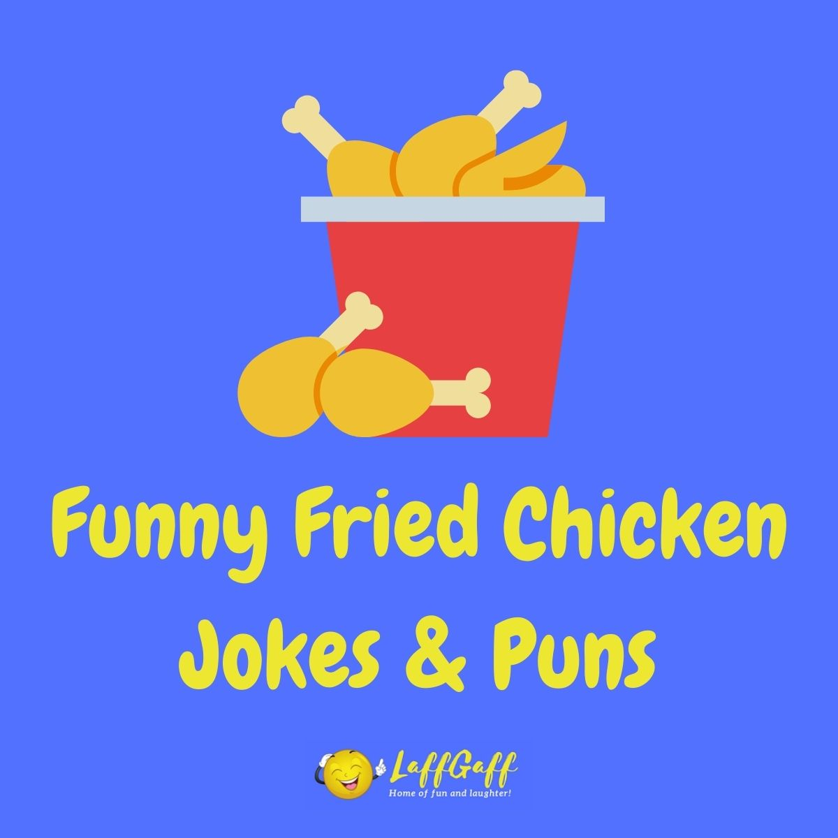 Featured image for a page of funny fried chicken jokes and puns.