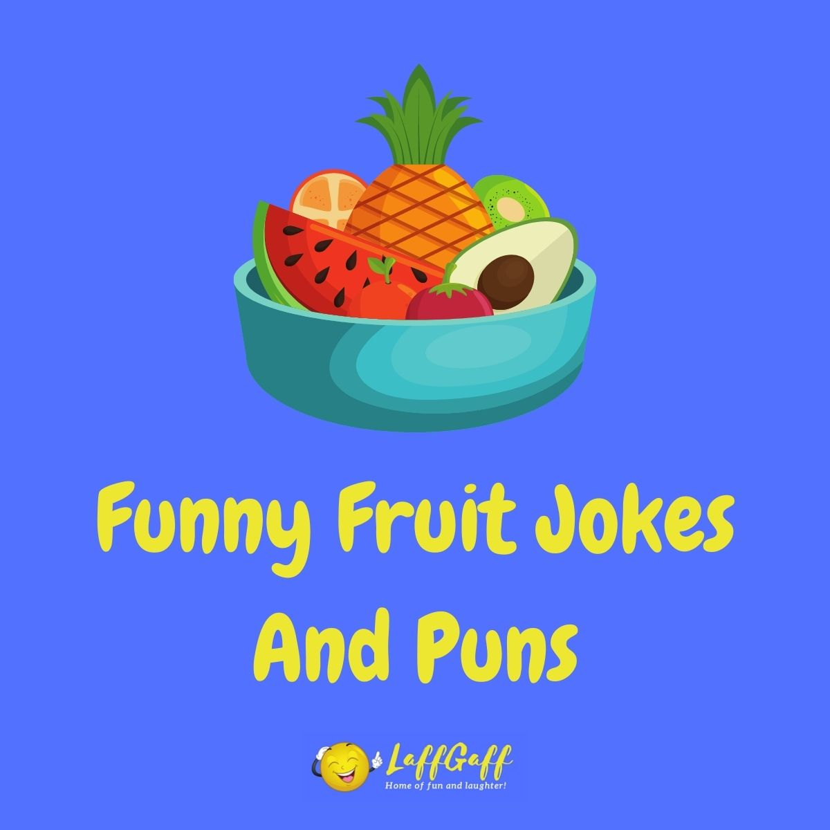 Featured image for a page of funny fruit jokes and puns.