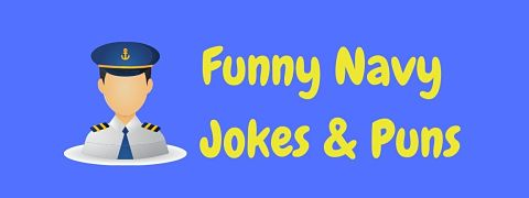 Header image for a page of funny navy jokes and puns.