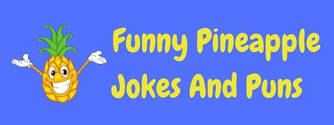 Header image for a page of funny pineapple jokes and puns.