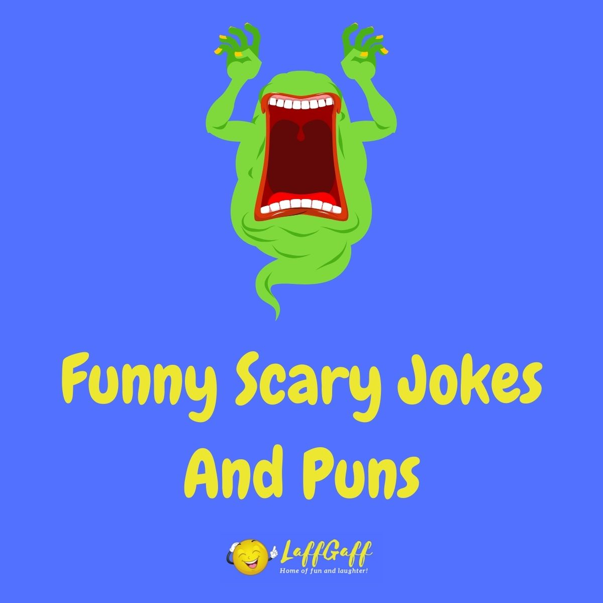 Featured image for a page of funny scary jokes and puns.