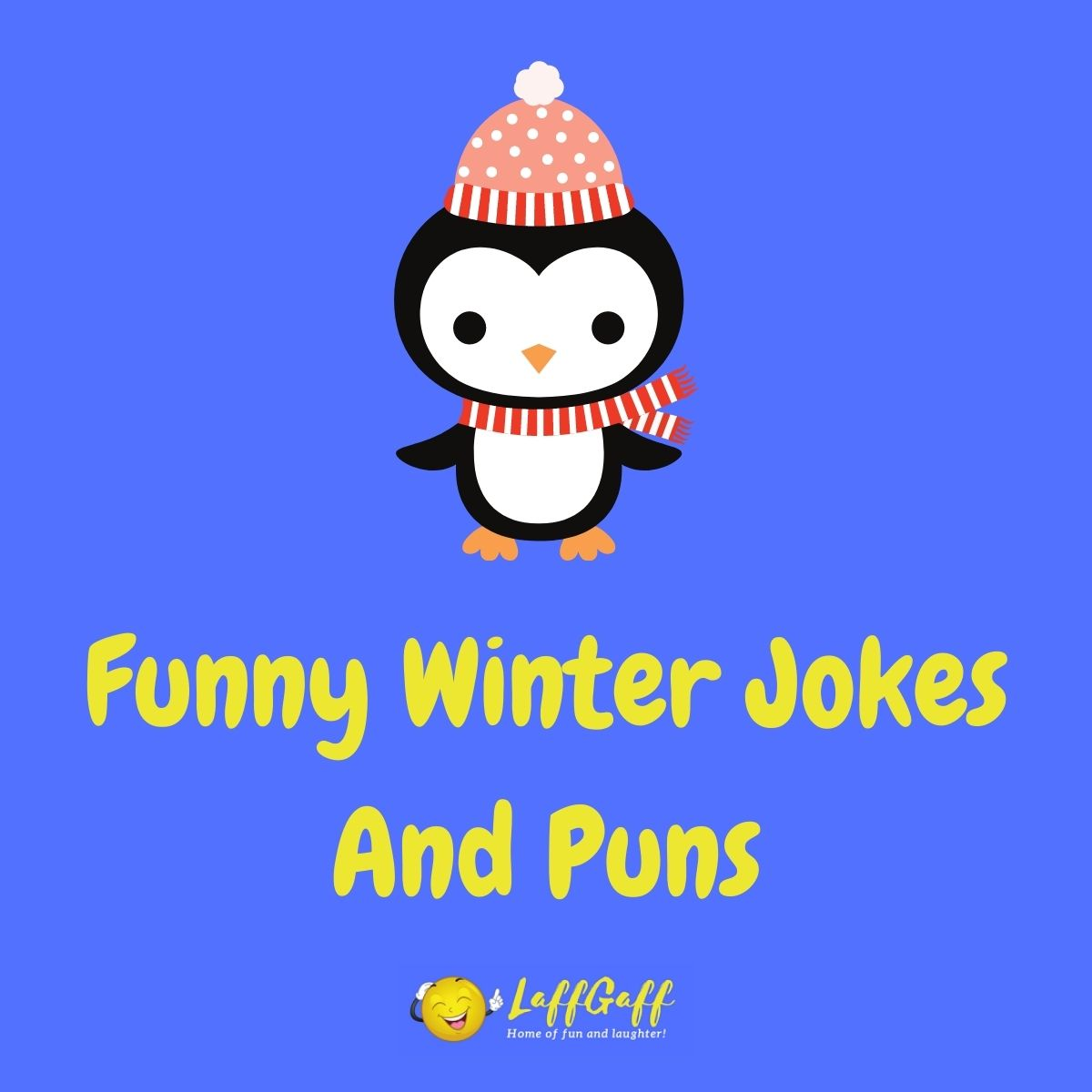 Featured image for a page of funny winter jokes and puns.