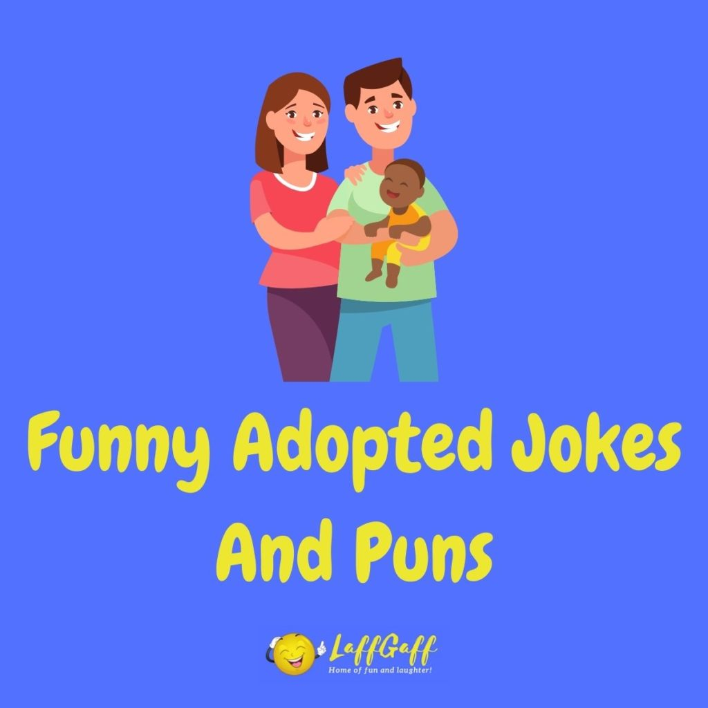 Featured image for a page of funny adopted jokes and puns.