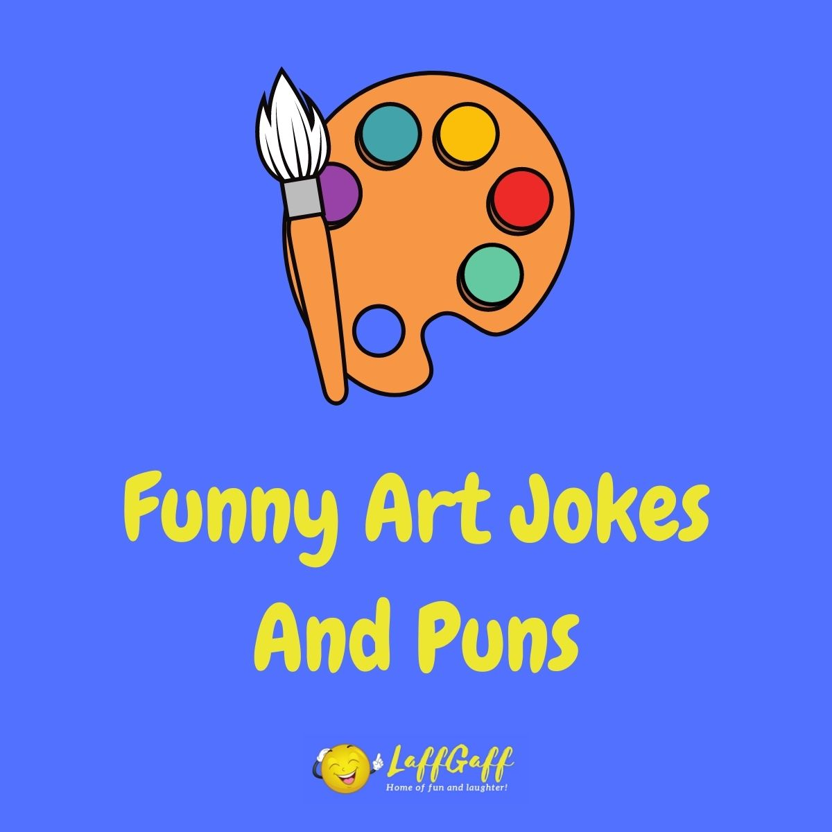 Featured image for a page of funny art jokes and puns.