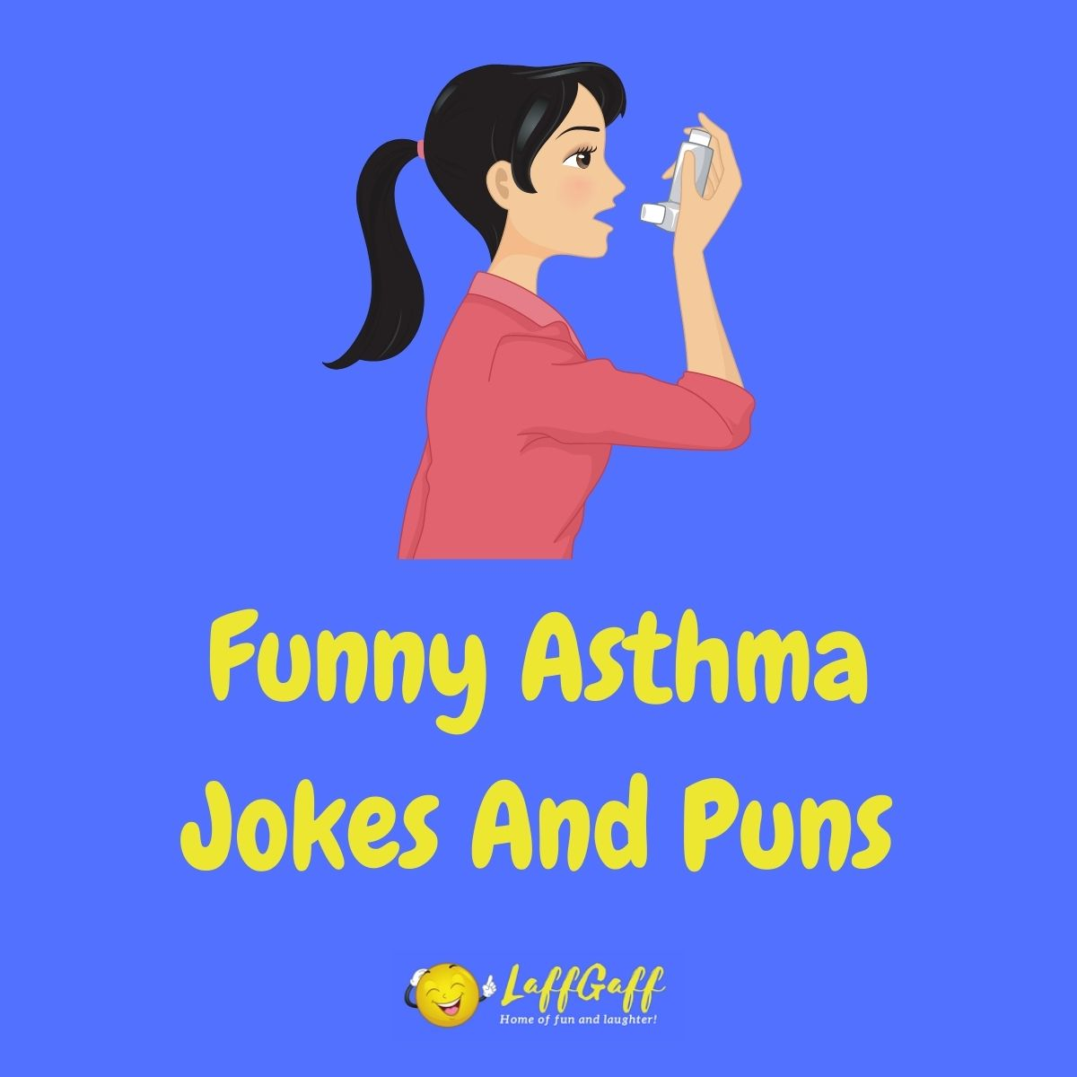 Featured image for a page of funny asthma jokes and puns.