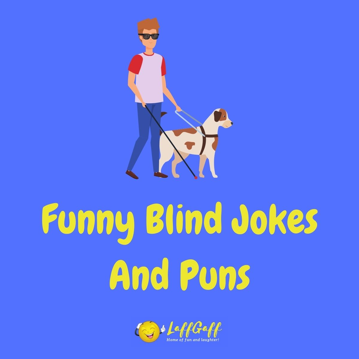 Featured image for a page of funny blind jokes and puns.