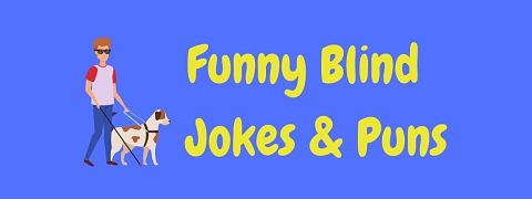 Header image for a page of funny blind jokes and puns.