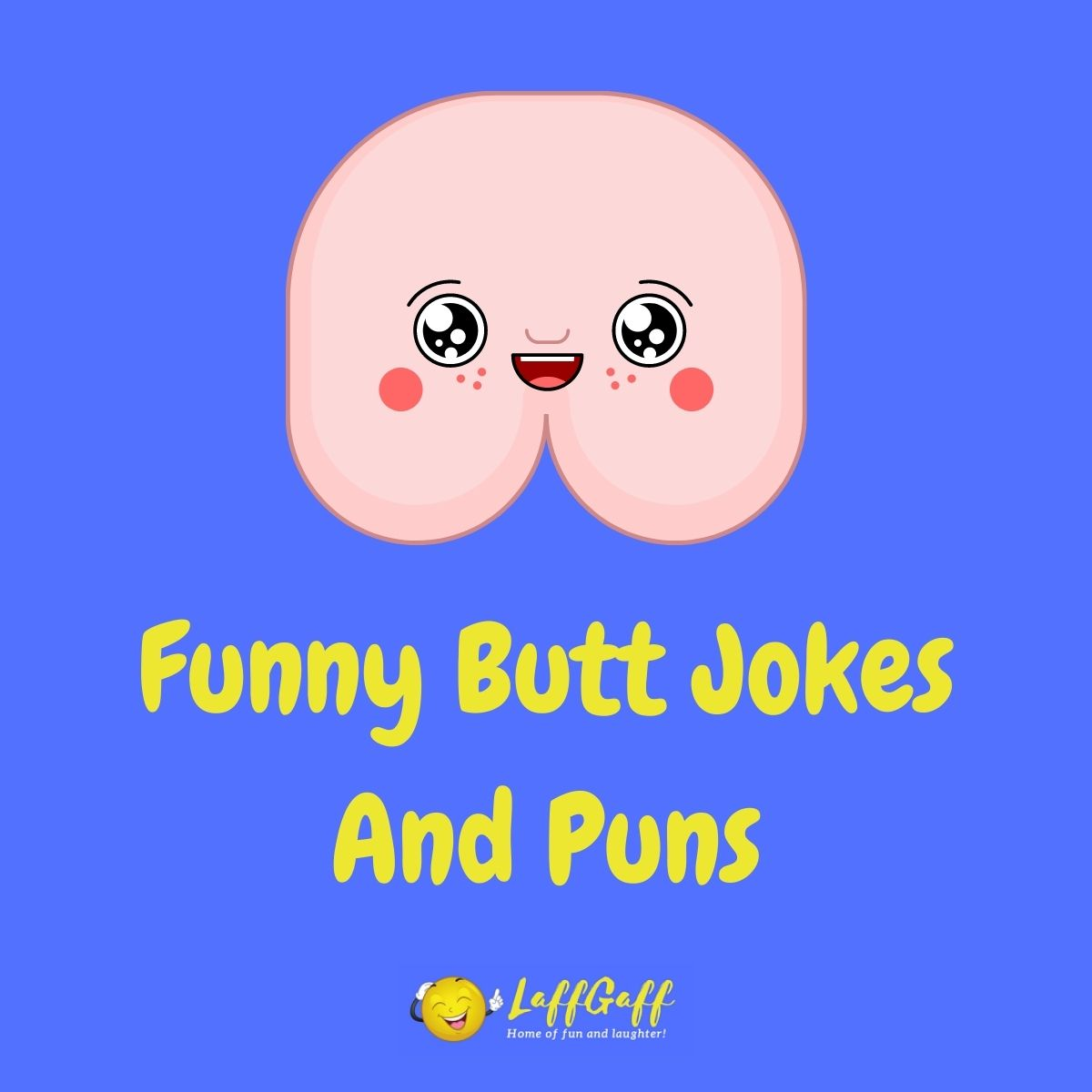 Featured image for a page of funny butt jokes and puns.