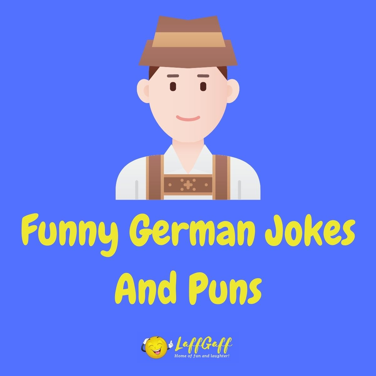 Featured image for a page of funny German jokes and puns.