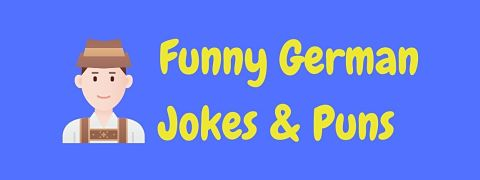 Header image for a page of funny German jokes and puns.