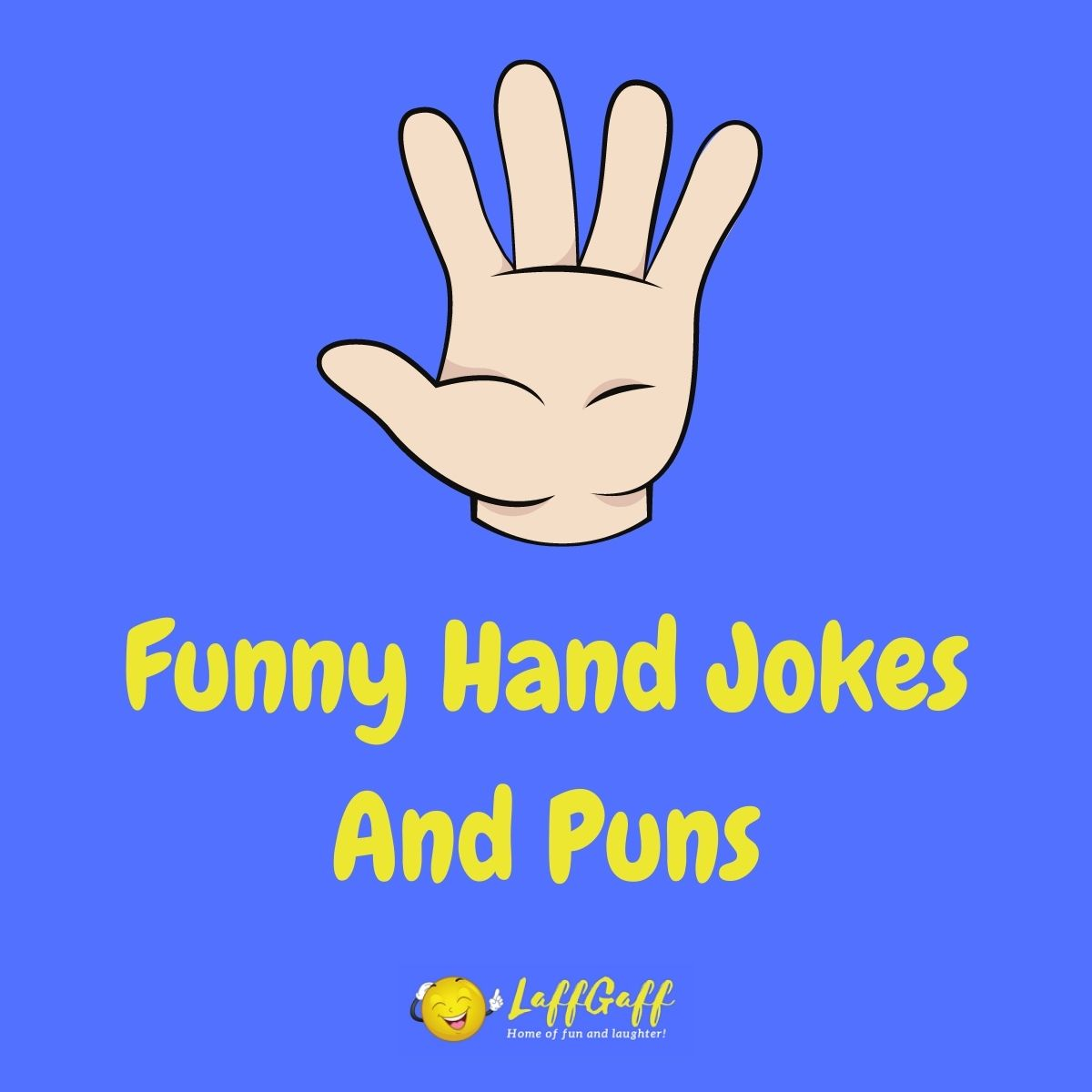 Featured image for a page of funny hand jokes and puns.