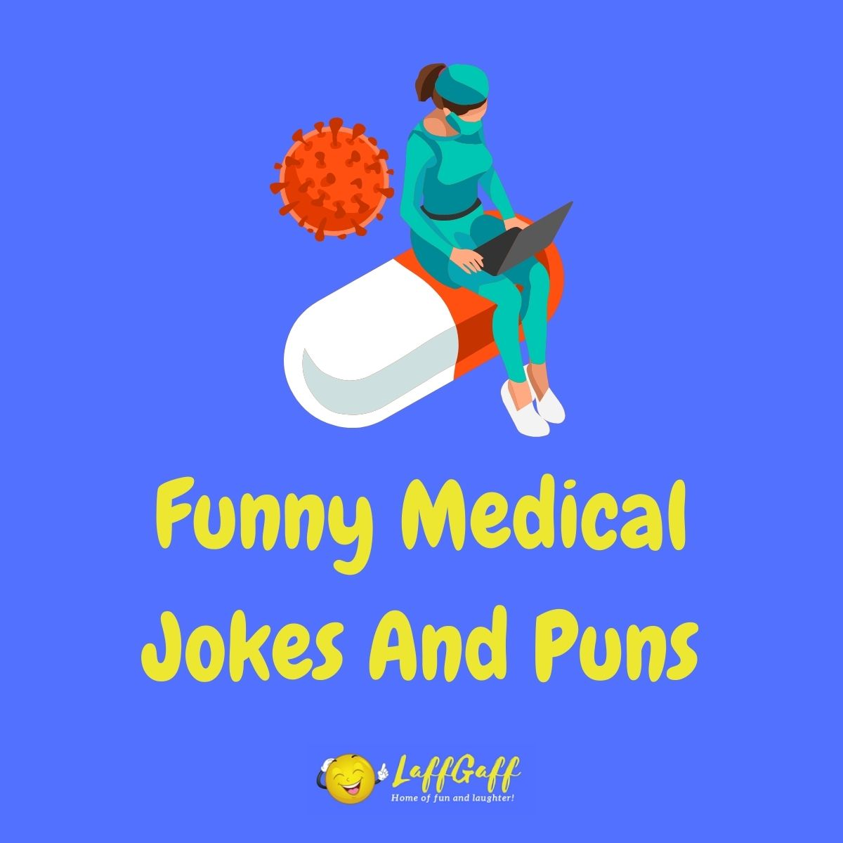 Featured image for a page of funny medical jokes and puns.