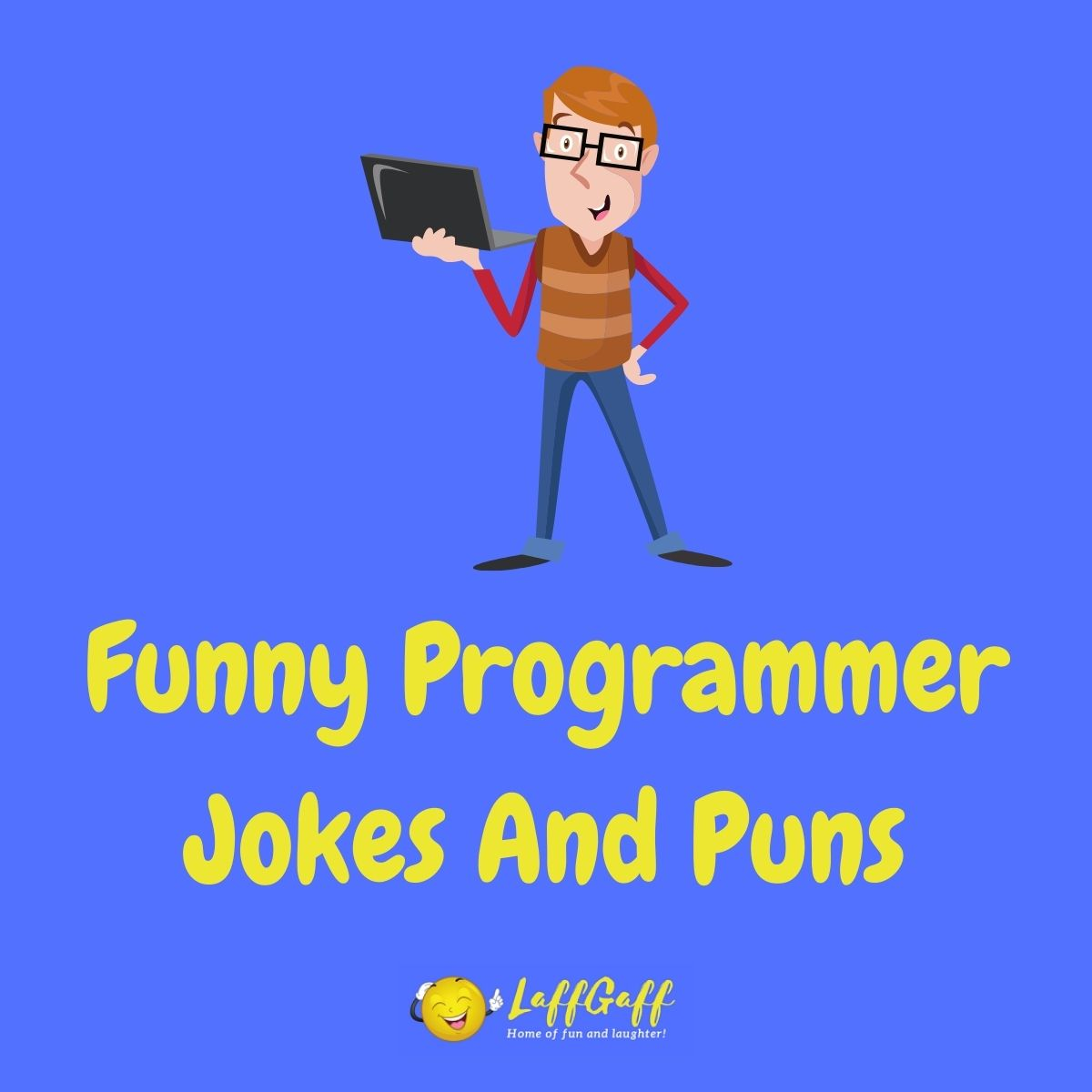 Featured image for a page of funny programmer jokes and puns.