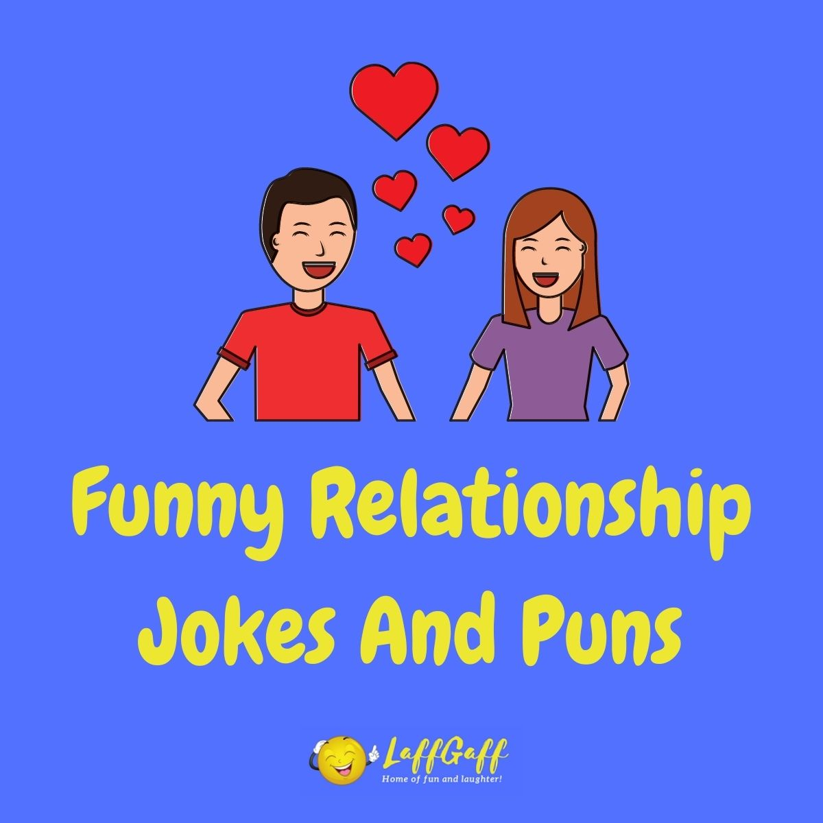 Featured image for a page of funny relationship jokes and puns.