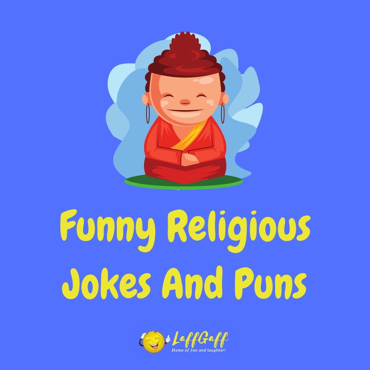 Featured image for a page of funny religious jokes and puns.