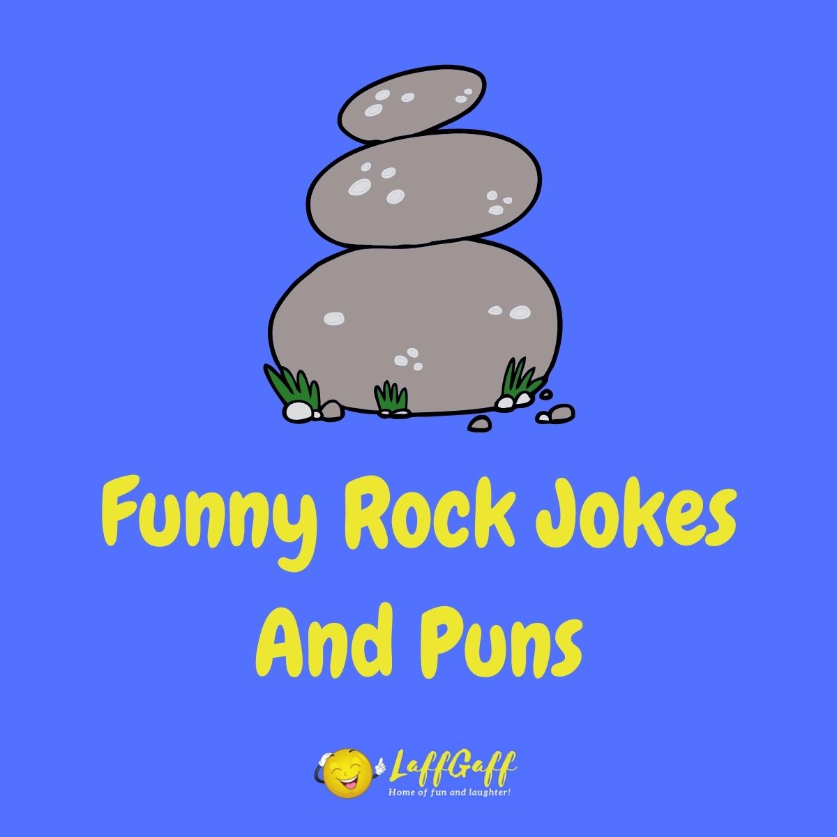 Featured image for a page of funny rock jokes and puns.