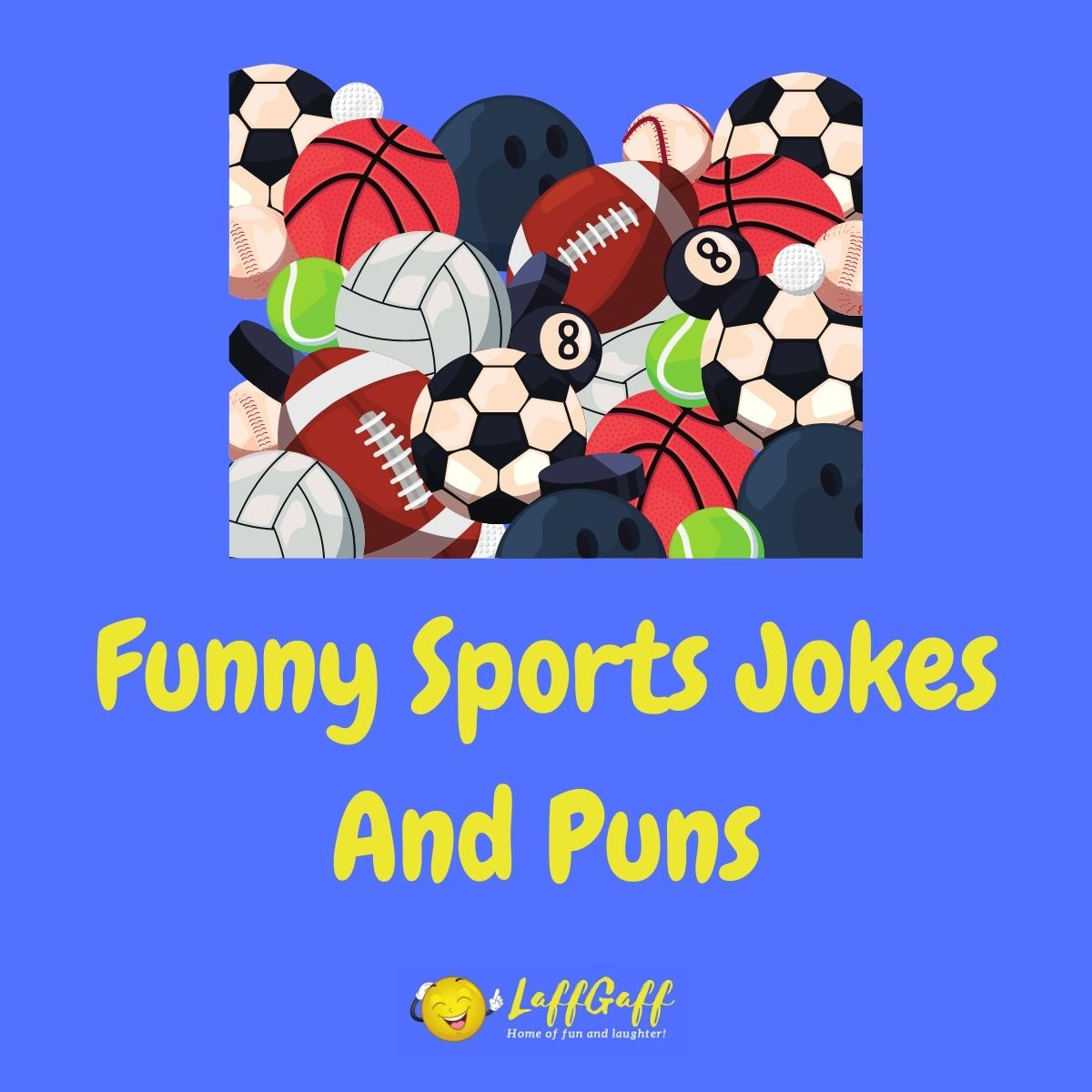 Featured image for a page of funny sports jokes and puns..