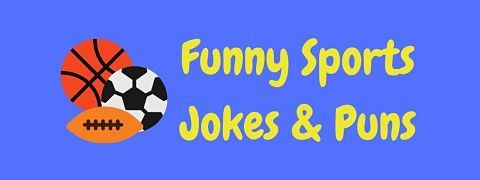 Header image for a page of funny sports jokes and puns..